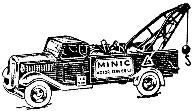 Perokresba starého nákladního vozu s jeřábem